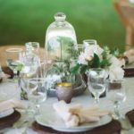 Apothecary Dome Floral Table Decor Northern Michigan Farm Wedding