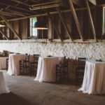 Wedding Reception High Top Tables Northern Michigan Farm Wedding
