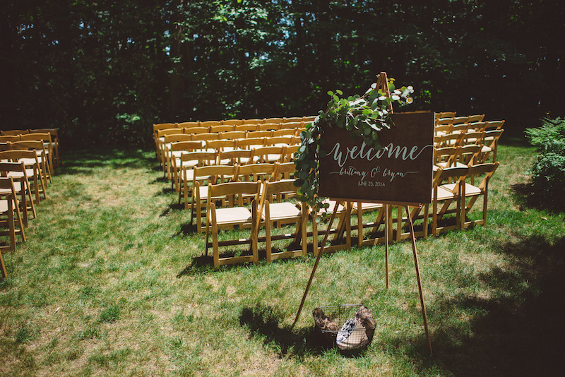 Wedding Ceremony at Cherry Basket Farm