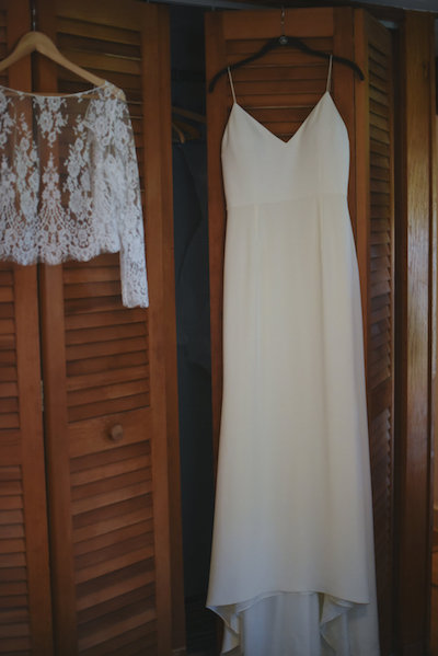 Wedding Dress | Farm to Table Wedding | Epicure Catering and Cherry Basket Farm | Northern Michigan Barn Wedding Venue Omena MI