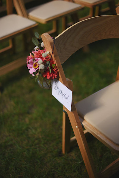 Ceremony Floral Decor | Farm to Table Wedding | Epicure Catering and Cherry Basket Farm | Northern Michigan Barn Wedding Venue Omena MI