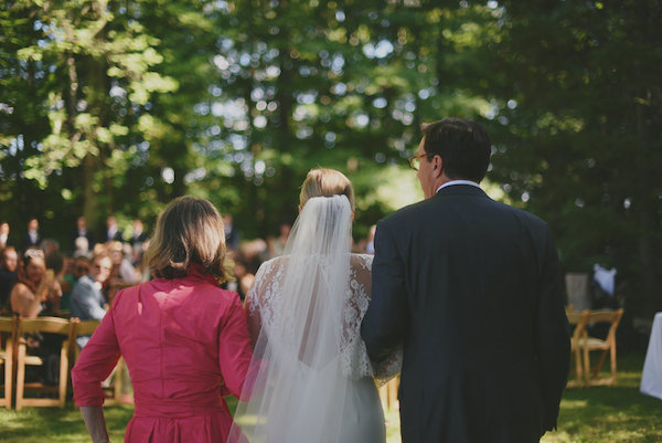 Bride Walking Down Aisle | Farm to Table Wedding | Epicure Catering and Cherry Basket Farm | Northern Michigan Barn Wedding Venue Omena MI