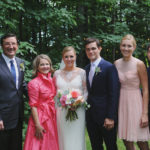 Bride Family Photo | Farm to Table Wedding | Epicure Catering and Cherry Basket Farm | Northern Michigan Barn Wedding Venue Omena MI