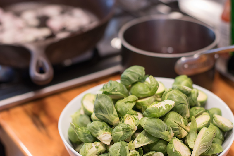 Epicure Catering | Cherry Basket Farm | Thanksgiving Recipe | Cranberry Brussel Sprouts | Farm to Table Catering | Sarah Peschel
